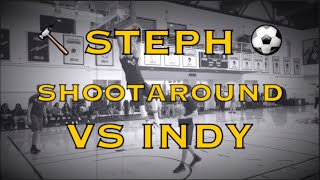 Steph Curry dunks and splashed kickball walk-away at Warriors (48-22) morning shootaround before IND
