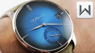 H. Moser & Cie Venturer Big Date Purity Funky Blue 2100-0203 Luxury Watch Review