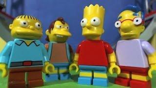 LEGO SIMPSONS Bart and the gang go to the Skate park.