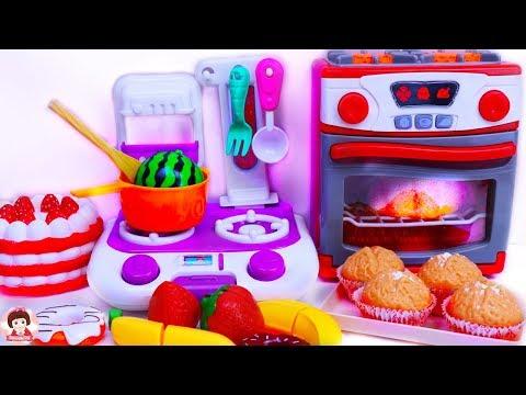 คุณแม่ทำขนมหวาน เบเกอรี่ ของเล่นทำอาหาร ชุดเครื่องครัว Play Doh สกุชชี่