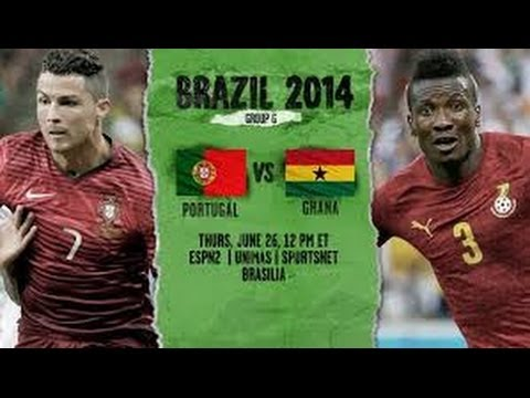 Portugal vs Ghana 2-1 ~ All Goals - World Cup 2014 HD