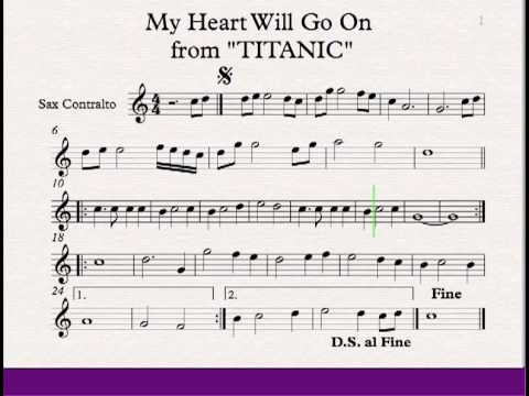 video music cancion my heart will go on: