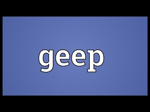 Geep Meaning