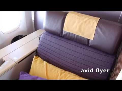 Thai Airways 747 Royal First Class - Lobsters on a Plane!