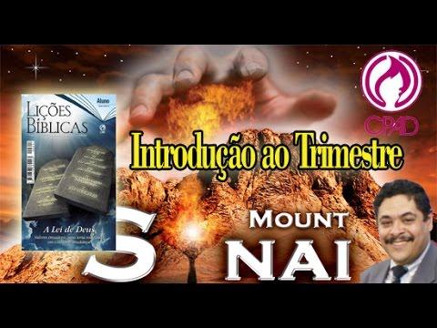 1º Trimestre de 2015 - Os Dez mandamentos: Introdução ao Trimestre