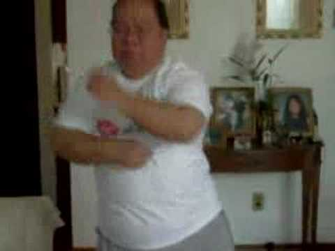 Filipino man dancing