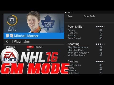 NHL 16 - GM Mode Potentials