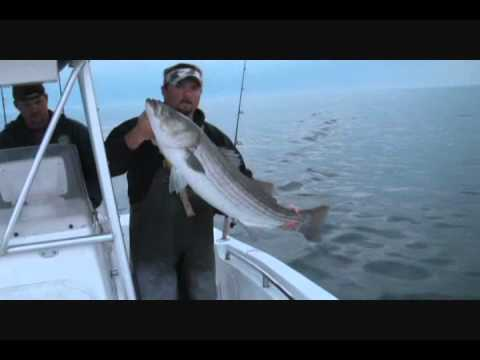 N.J. STRIPER FISHING PERRYTWINS OUTDOORS STRIPED BASS,SEA SIDE