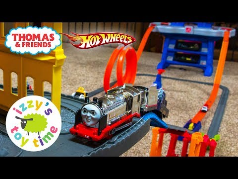 Cars for Kids | Hot Wheels Road Rally with Thomas and Friends Trackmaster |  Fun Toy Trains for Kids
