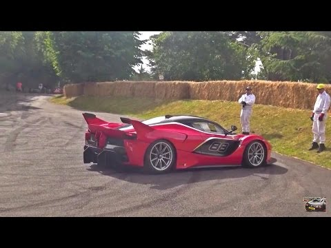 Ferrari LaFerrari FXXK CRAZY SOUNDS at Goodwood!
