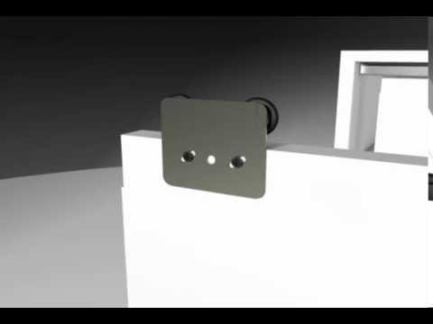 Sistema para puertas colgantes de closet  - Frente de placard Colgante