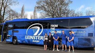 See the new Leinster Rugby team bus from official coach supplier Aircoach