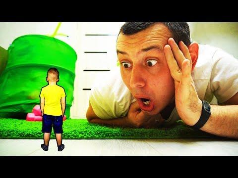 Джо УМЕНЬШИЛ Матвея!!! Папа НЕ МОЖЕТ его найти!!! Видео для детей For Kids Матвей Котофей