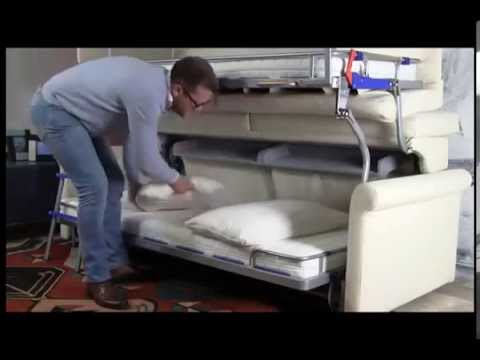 Stacking bunk bed sofa bed santambrogio sofas youtube - Sofa cama pequeno ...