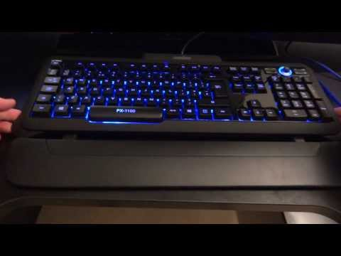 Perixx PX-1100 UK Backlit Gaming Keyboard - Overview & Review - By TotallydubbedHD
