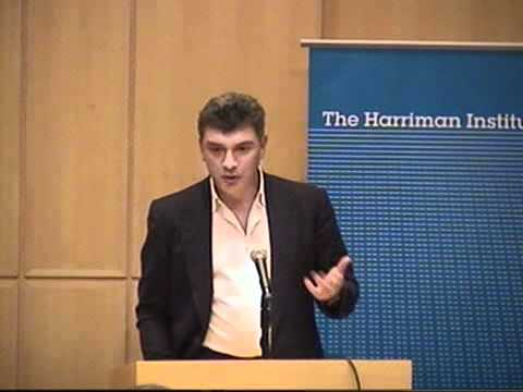Boris Nemtsov: The Current Political Situation in Russia and Perspective for the Future