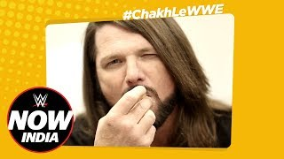 AJ Styles Eats Classic Indian Snacks! – Chakh Le WWE Ep.1: WWE Now India