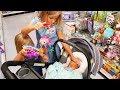 ЧТО СЛУЧИЛОСЬ ? ПОКУПКИ для Евы / Alisa ПРЕВРАТИЛАСЬ в СЛОНА / Николь и Алиса Shopping Baby Pink