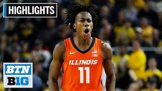 Highlights: Dosunmu Scores 27 in Win | Illinois at Michigan | Jan. 25, 2020