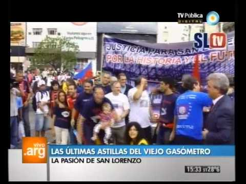 Vivo en Argentina - Deportes: La lucha de San Lorenzo - 06-03-12