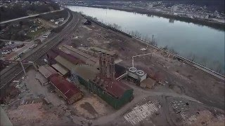 Old Wheeling Pittsburgh Steel blast furnace site Mingo Junction 2016