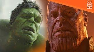 Hulk Vs Thanos in Avengers Infinity War....Hulk is Terrified & Afraid