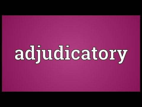Header of Adjudicatory