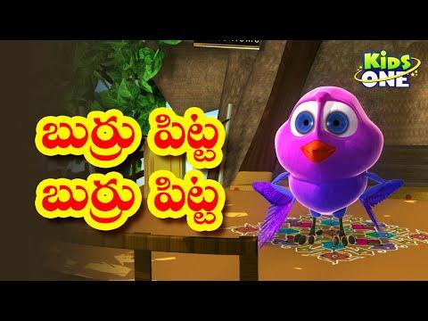 Burru Pitta  Animated Rhyme Telugu video