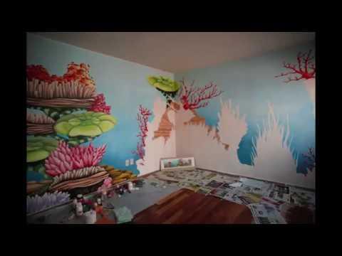 Dihem processo di realizzazione di una pittura su parete per una cameretta youtube - Pittura per cameretta ...