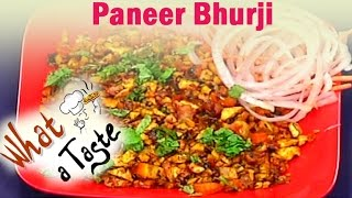 Paneer Bhurji Recipe || What A Taste || Vanitha TV