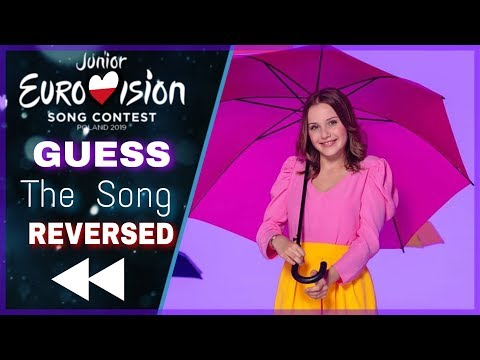 Junior Eurovision 2019 | Guess the REVERSED Song | All 19 songs