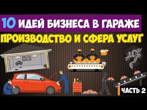 Бизнес в гараже - 10 идей из сферы услуг и производства в гараже | часть 2