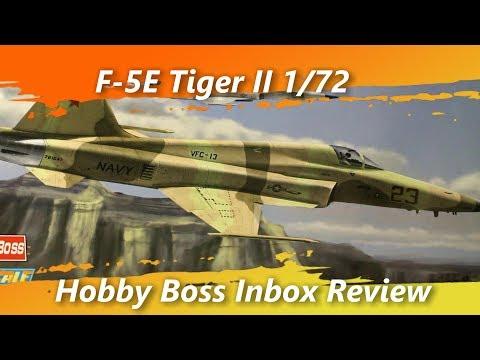 F-5E Tiger II 1/72 Hobby Boss Inbox Review