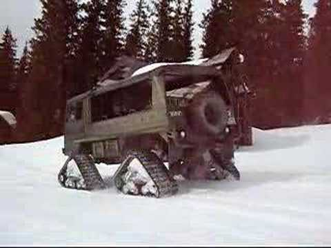 Re: Pinzgauer with Mattracks on snow