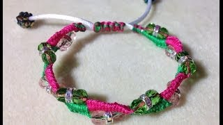 (Tutorial) Beaded Macrame Bracelet (Video 32)