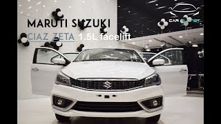 MARUTI SUZUKI CIAZ ZETA (1.5L Petrol) FaceLift || Full Review & Specifications || EXPLAINED