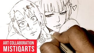 Penciling and Inking Characters: Mistiqarts Art Collaboration