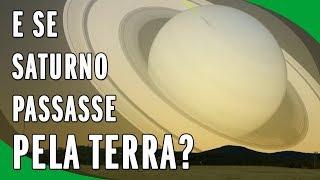 Vídeo Realista Mostra o que Aconteceria Se Saturno Passasse de Raspão Pela Terra