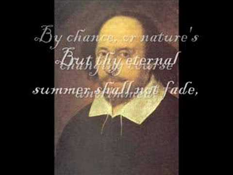 Sonnet no 18: By William Shakespeare ('Summer's day')