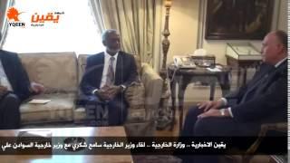 يقين   لقاء وزير الخارجية سامح شكري مع وزير خارجية السوادن علي كرتي