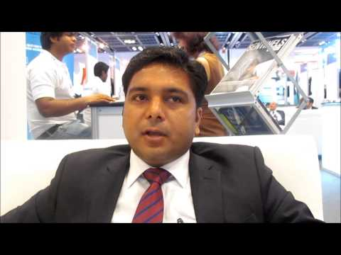 Ravinder Janotra, Regional Sales Manager, Cyberoam Middle East at the UAE Security Expo - Gisec 2014