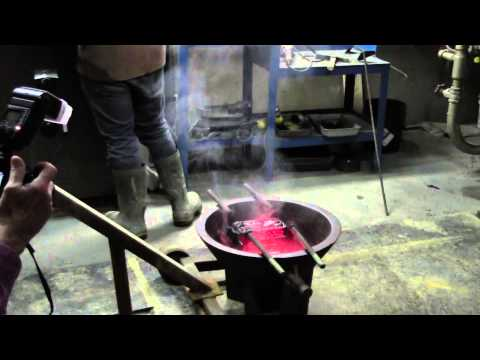 RAW FOOTAGE - Barkerville Gold Mines 1st Gold Bar Poured