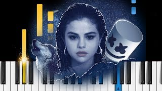 Selena Gomez, Marshmello - Wolves - Piano Tutorial / Piano Cover