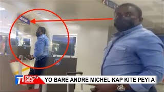 Gade video saa... Yo bare Andre Michel airport , ti valiz li tou nef, lap pati pou Etazini