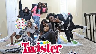 TWISTER GAME CHALLENGE FT. AJMOBB AND BEAM SQUAD (EXTREMELY FUNNY)