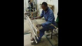 Weaving silk in Ethiopia