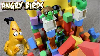 Tower Attack! Angry Birds (McDonald's Toys) Blast Giant Tower - it's Angry Birds vs Pigs 2016