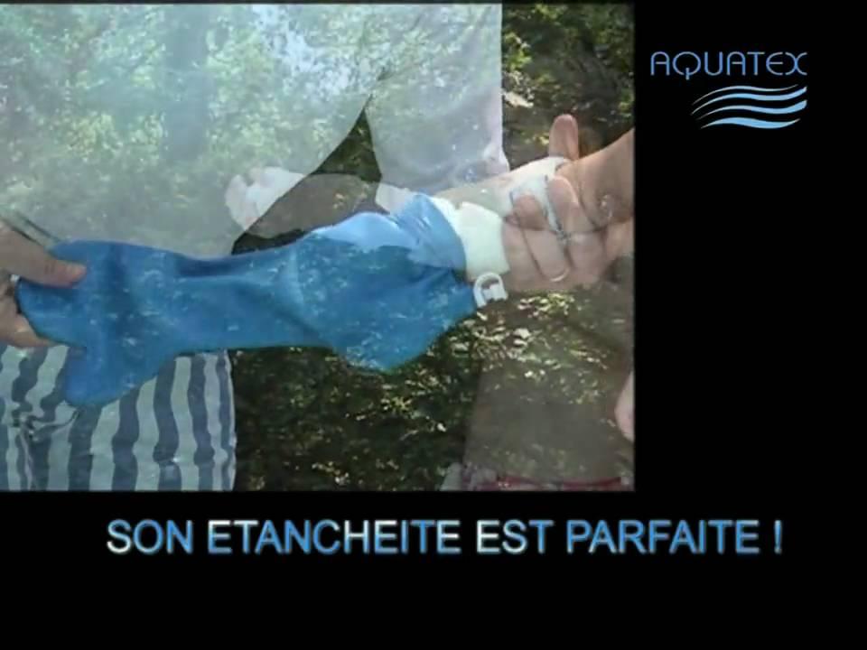 Aquatex prot ge pl tre pour se baigner ou se laver m me avec un pl tre youtube - Protection platre douche ...