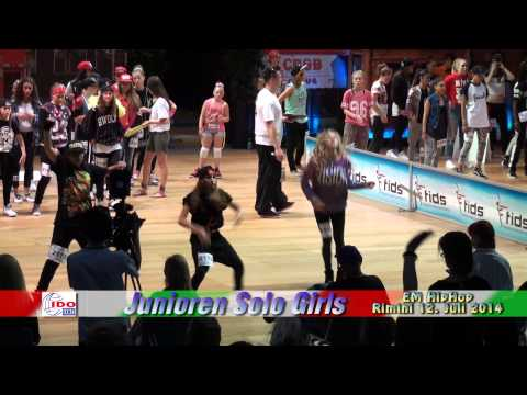 Ido Em Hiphop In Rimini 2014 - Jun. Solo Girls - Jadzia video