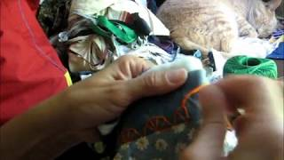tutorial como hacer puntada decorativa en crazy quilt.wmv